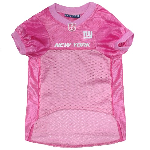 sports shoes 58fcc a4ff5 New York Giants Pets First Pink Pet Football Jersey - Pink L