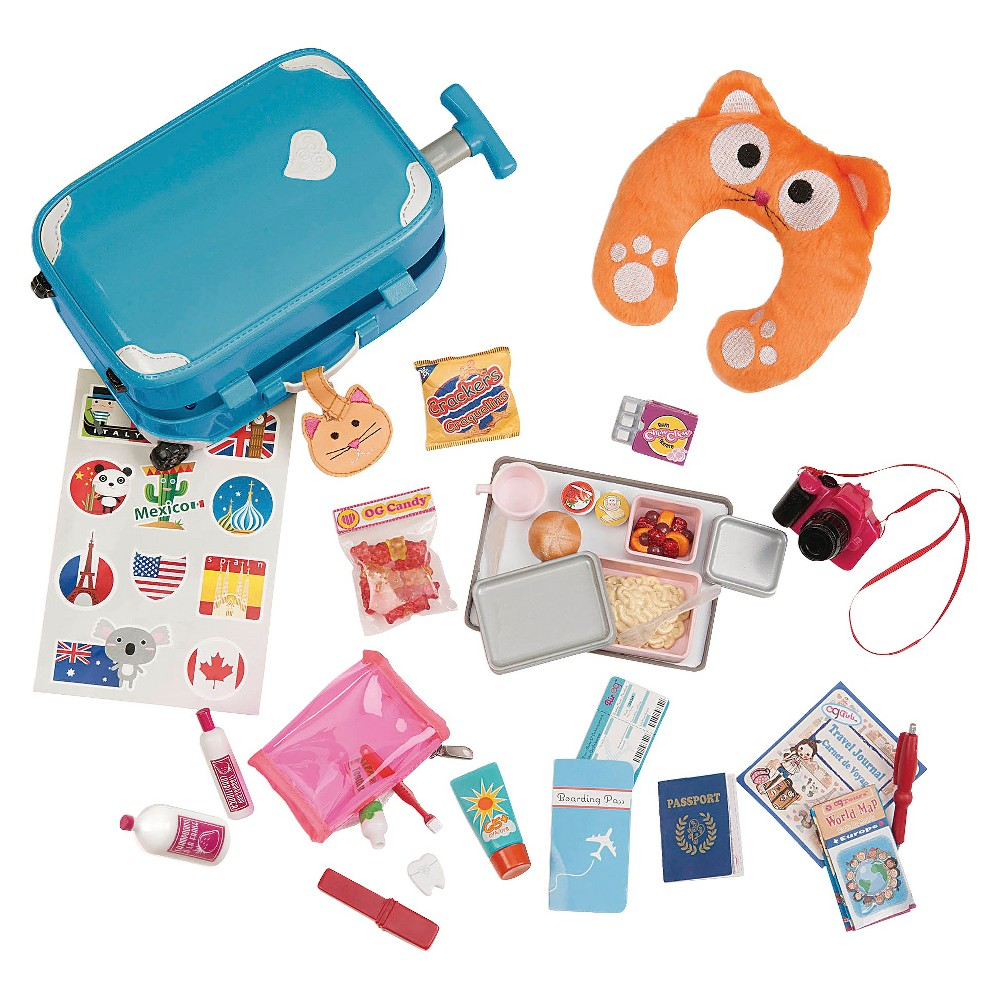 Our Generation Well Traveled Luggage Accessory Set