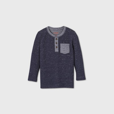 Toddler Boys' Double Knit T-Shirt - Cat & Jack™ Navy 2T