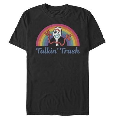 Men's Toy Story Forky Talkin' Trash Rainbow T-Shirt