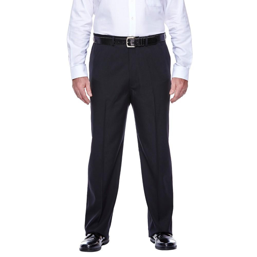 Haggar H26 - Men's Big & Tall Classic Fit Performance Pants Black 46x29