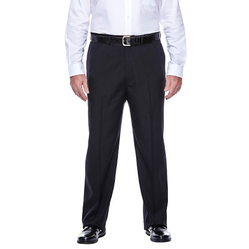 Haggar H26 - Men's Big & Tall Classic Fit Performance Pants Black 44x30 - image 1 of 2