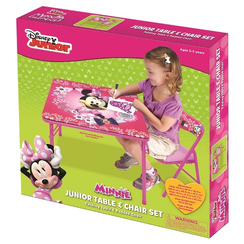 disney minnie junior table chair set target