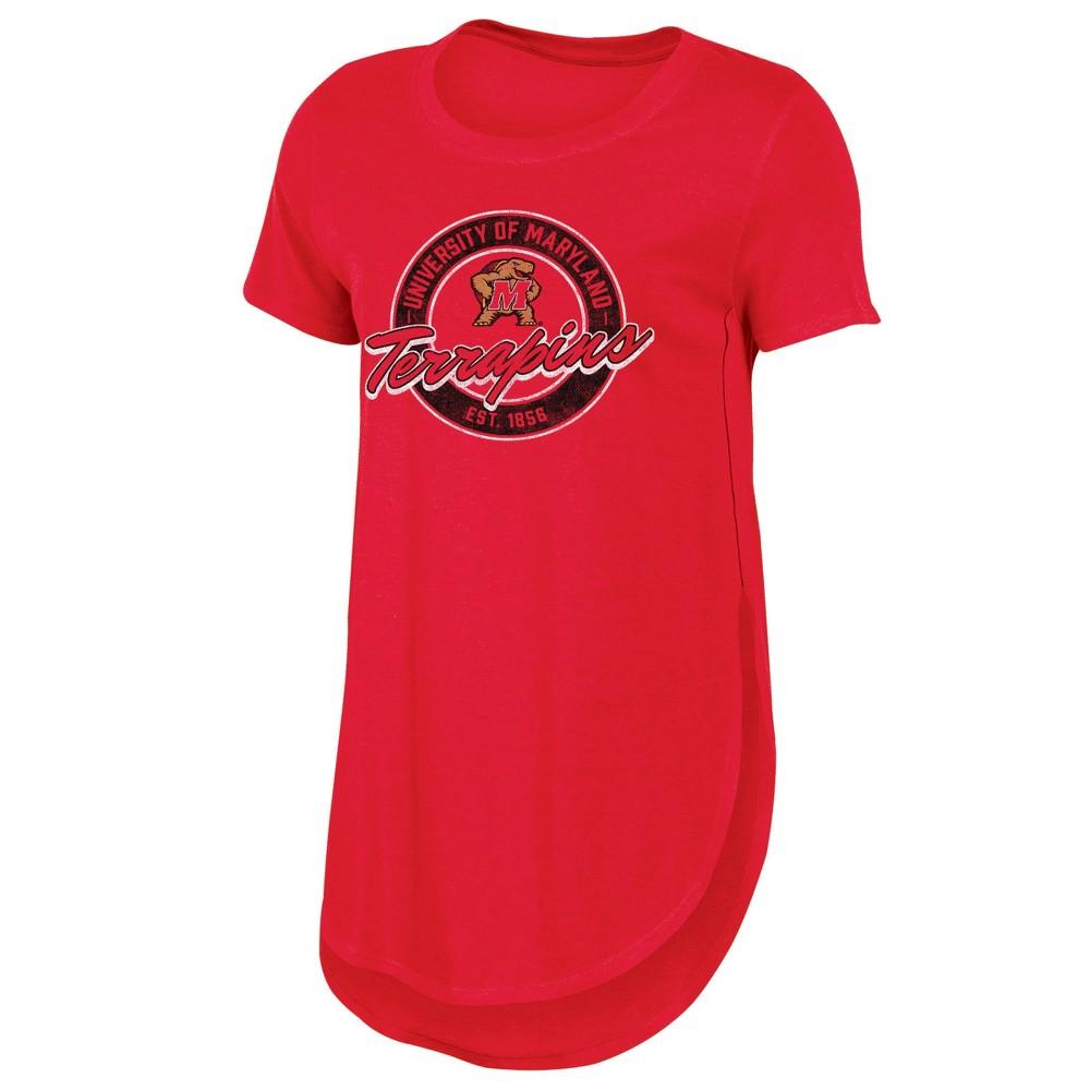 Ncaa Maryland Terrapins Women 39 S Heathered Crew Neck Tunic T Shirt S