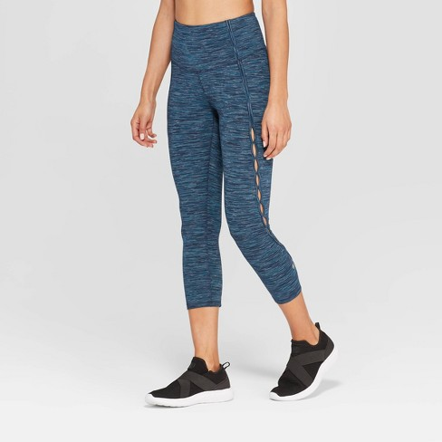 "Women's Everyday High-Waisted Keyhole Cutout Capris Leggings 21"" - C9 Champion®  - image 1 of 3"