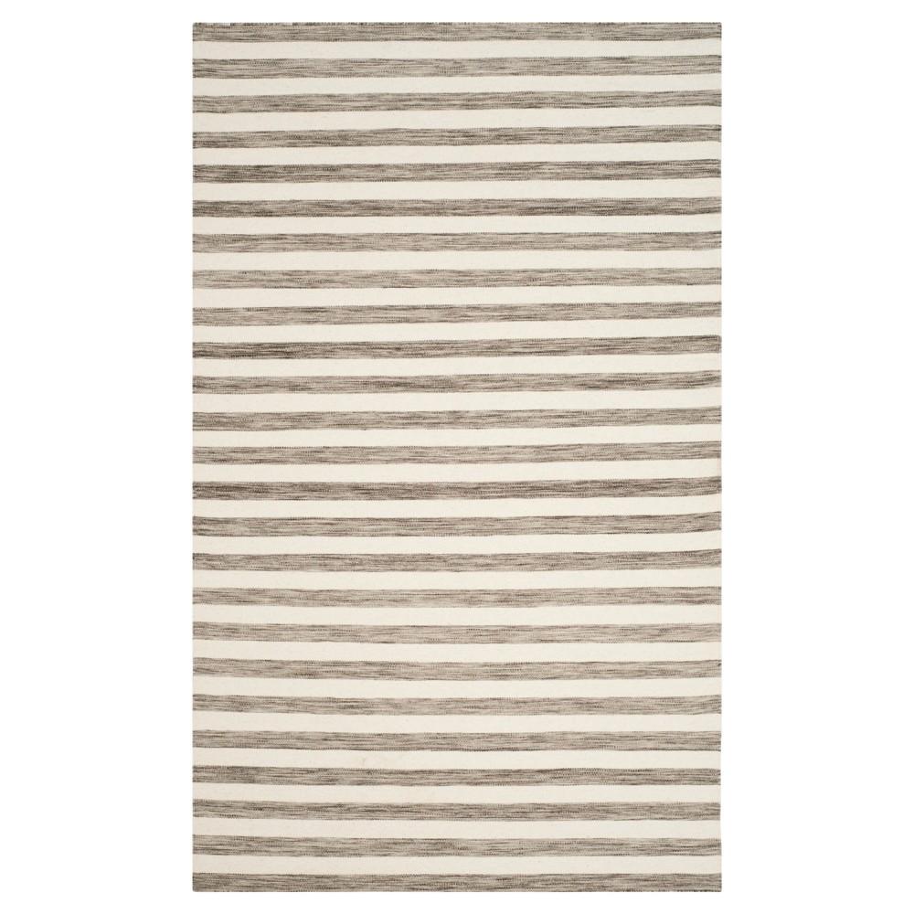 Roland Dhurrie Area Rug - Brown/Ivory (4' X 6') - Safavieh
