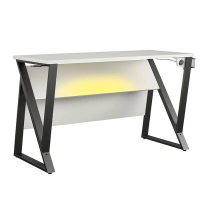 Genesis Adjustable Gaming Desk White - NTENSE