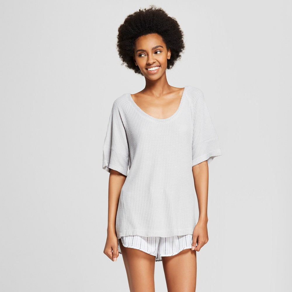 Women's Super Soft Thermal T-Shirt - Xhilaration Gray XL, Heather Gray