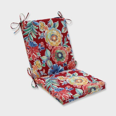 Colsen Berry Squared Corners Outdoor Chair Cushion Red - Pillow Perfect