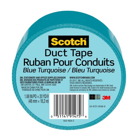 "Scotch 1.88"" x 20yd Duct Tape - Blue Turquoise - image 1 of 2"