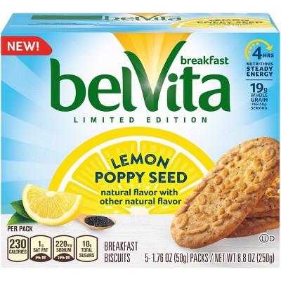 belVita Limited Edition Lemon Poppy Seed Breakfast Biscuits - 5ct/8.8oz