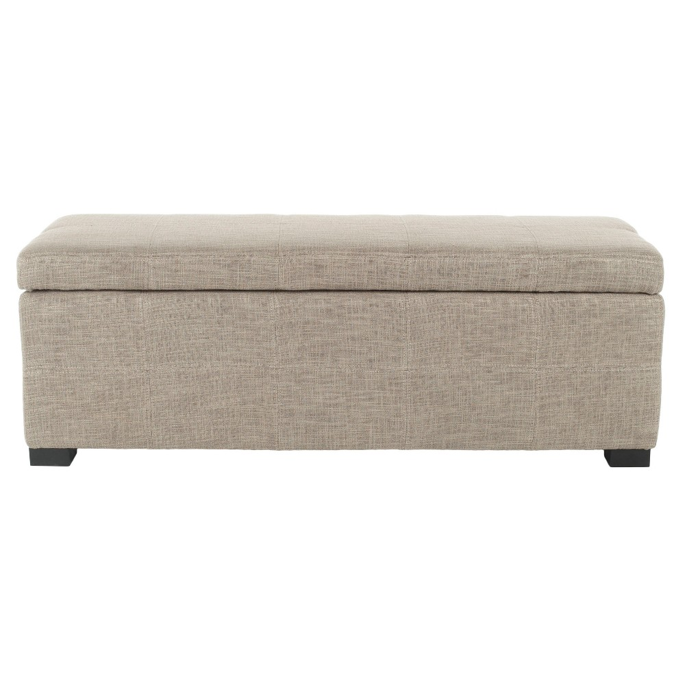 Madison Large Storage Bench - Gray - Safavieh, Grey