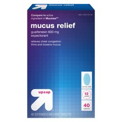 Mucus Relief Extended Release Tablets - 40ct - Up&Up™