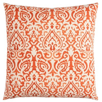 "22""x22"" Oversize Poly Filled Damask Square Throw Pillow - Rizzy Home"