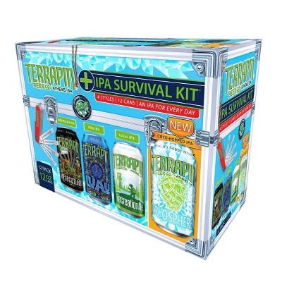 Terrapin Beer IPA Survivial Kit Variety Pack - 12pk/12 fl oz Cans
