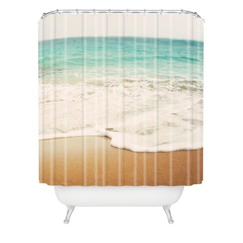 Bree Madden Ombre Beach Shower Curtain Buff Beige