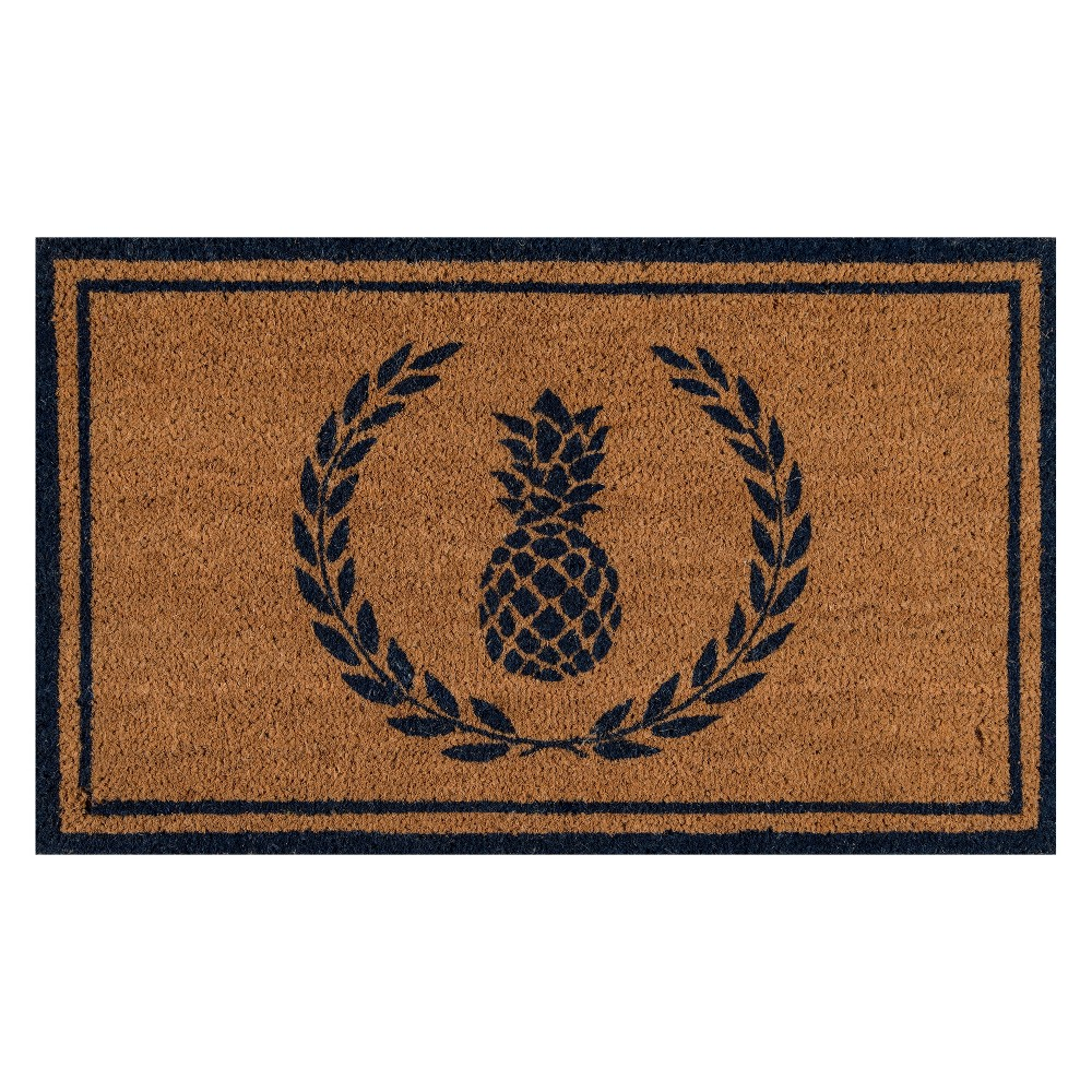 "Image of ""1'6""""X2'6"""" Fruit Woven Door Mat Navy (Blue) - Erin Gates By Momeni"""