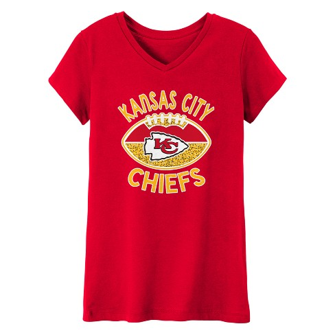 NFL Kansas City Chiefs Girls  Represent V-Neck T-Shirt. Shop all NFL 9b0605ac1