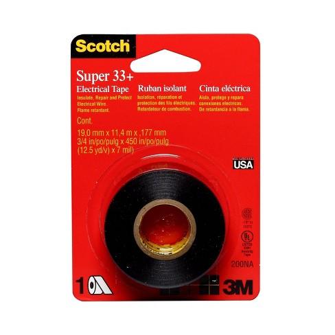 "Scotch 3/4""x450"" Super 33+ Electrical Tape Black - image 1 of 4"