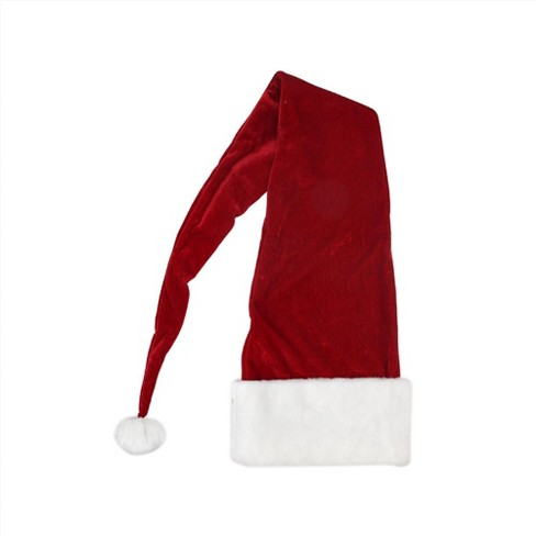 Northlight Red and White Knitted Nordic Snowflake Unisex Adult Christmas Santa Claus Hat Costume Accessory - Medium - image 1 of 1