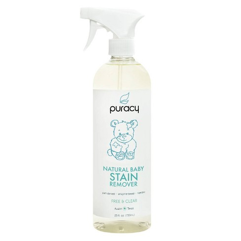 Puracy Natural Baby Laundry Stain Remover Enzyme Odor Eliminator Free & Clear - 25 fl oz - image 1 of 4