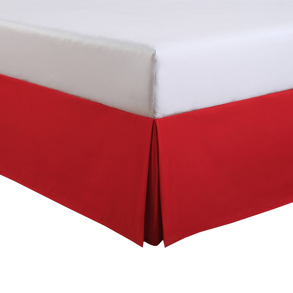 Image of Luxury Hotel Full Kids Tailored Bed Skirt Red