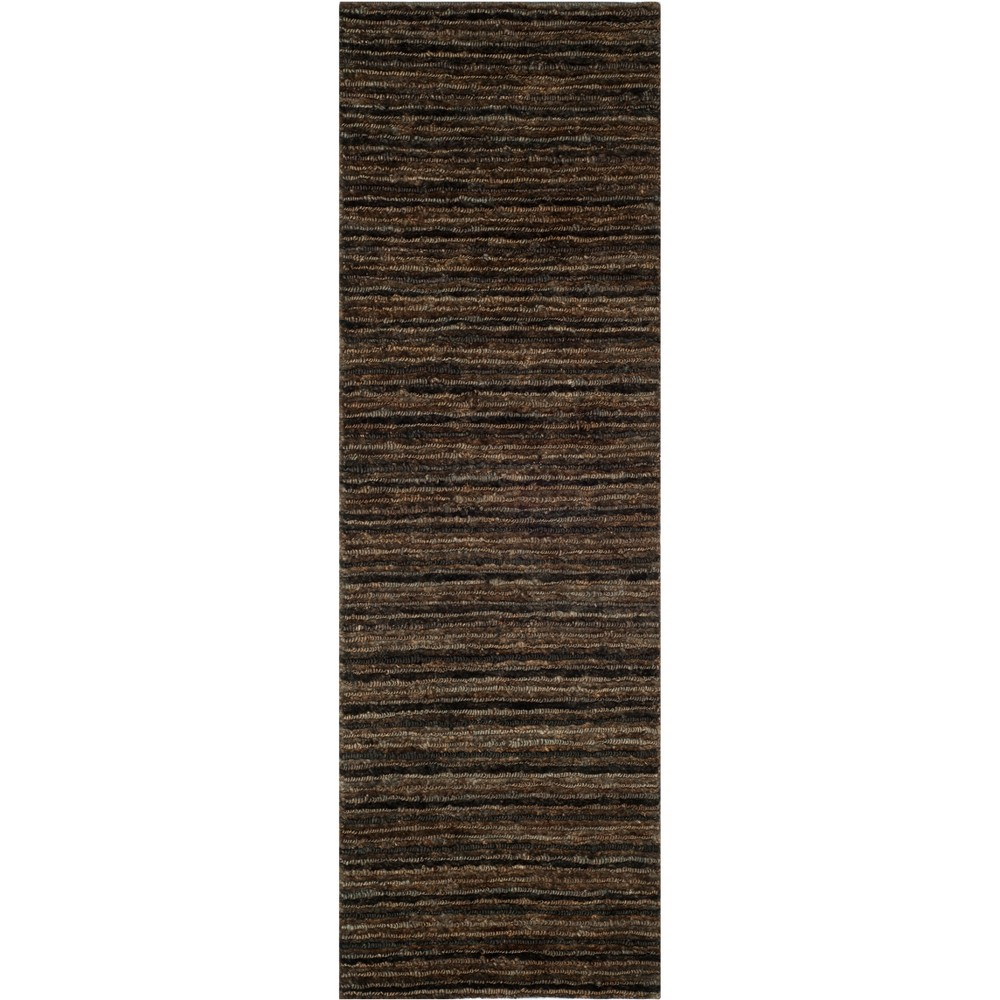 2'6X12' Solid Knotted Runner Charcoal - Safavieh, Gray