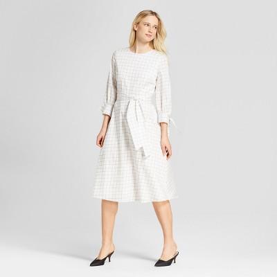 69ef77731a7 Women s Tie Sleeve Midi Dress – Who What Wear™ White Windowpane M ...