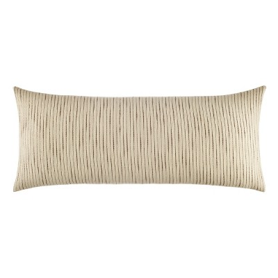 Kenneth Cole New York Chenille Throw Pillow, Chenille, Ivory/Mink Brown, 14X36
