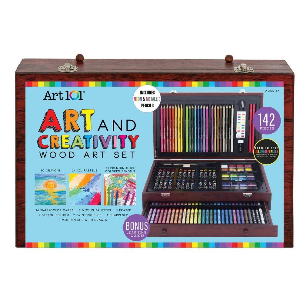Image of Art 101 142pc Art & Creativity Wood Art Set