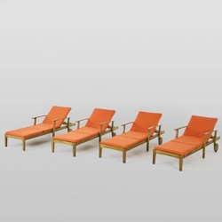 Perla 4pk Acacia Wood Chaise Lounge - Christopher Knight Home