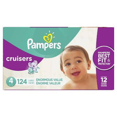 Pampers Cruisers Disposable Diapers Enormous Pack - Size 4 (124ct)