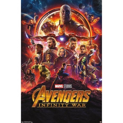 "34"" x 22"" Marvel Cinematic Universe: Avengers: Infinity War One Sheet Unframed Wall Poster - Trends International"