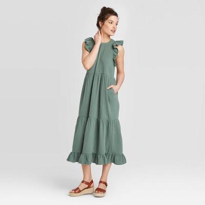 Women's Sleeveless Tiered Ruffle Dress - Universal Thread™