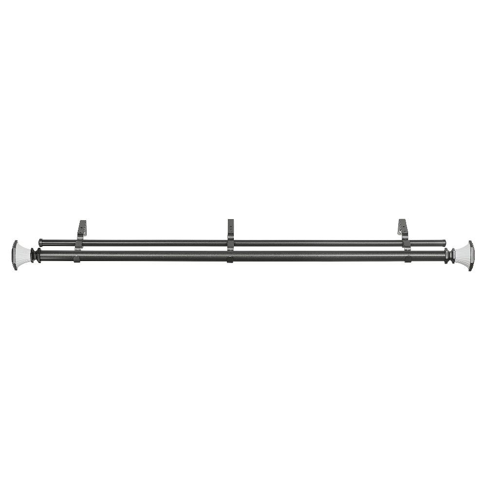 Buono II Decorative Double Rod & Finial Monet Gray (72