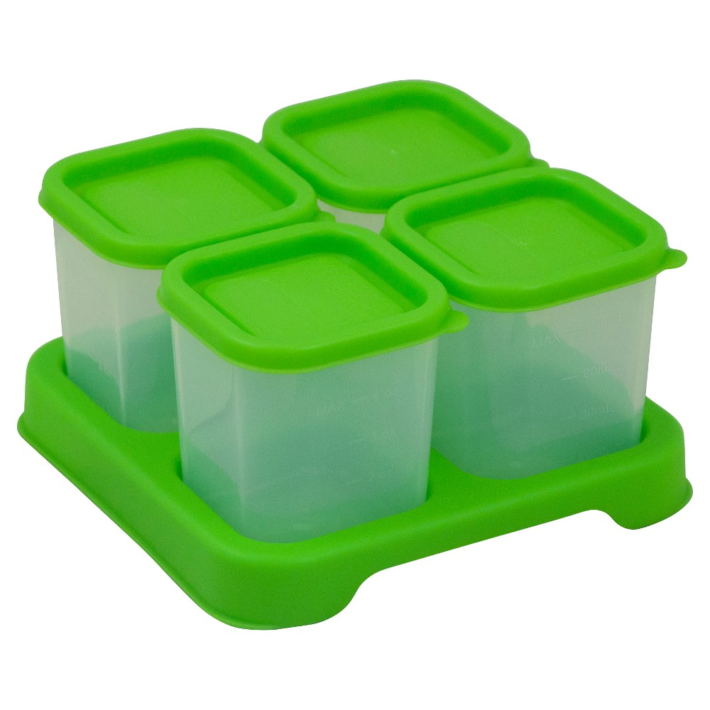 Image of green sprouts Unbreakable Cubes for Fresh Baby Food 4oz 4 pack - Green