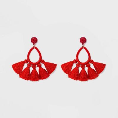 view SUGARFIX by BaubleBar Tassel Fringe Hoop Earrings on target.com. Opens in a new tab.