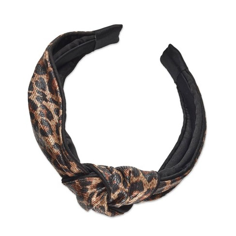 Sincerely Jules by Scunci Knotted Cheetah Print Headband - 1ct - image 1 of 3