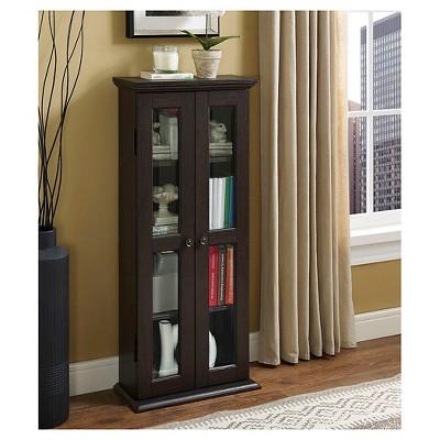 "41"" Wood Media Storage Tower Cabinet - Saracina Home"