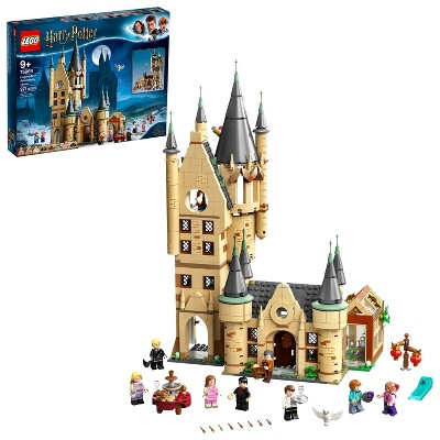 LEGO Harry Potter Hogwarts Astronomy Tower Brick Toy with Action Minifigures 75969