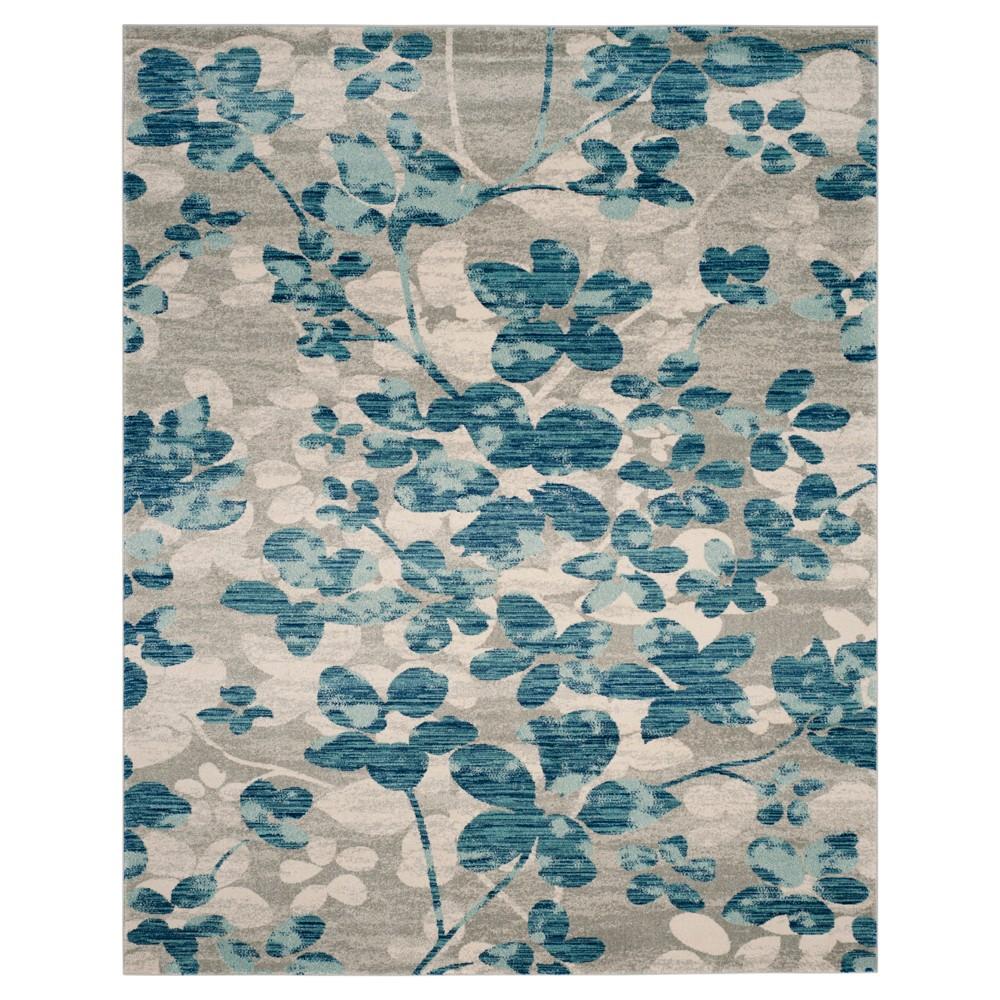 Evoke Rug Gray Light Blue 8 39 X10 39 Safavieh