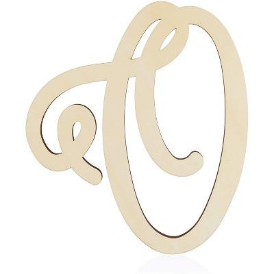 Unfinished Wood Monogram Letter O (13 in.)