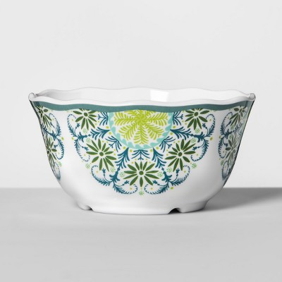 Melamine Bowl 24oz Blue/Green Medallion - Opalhouse™