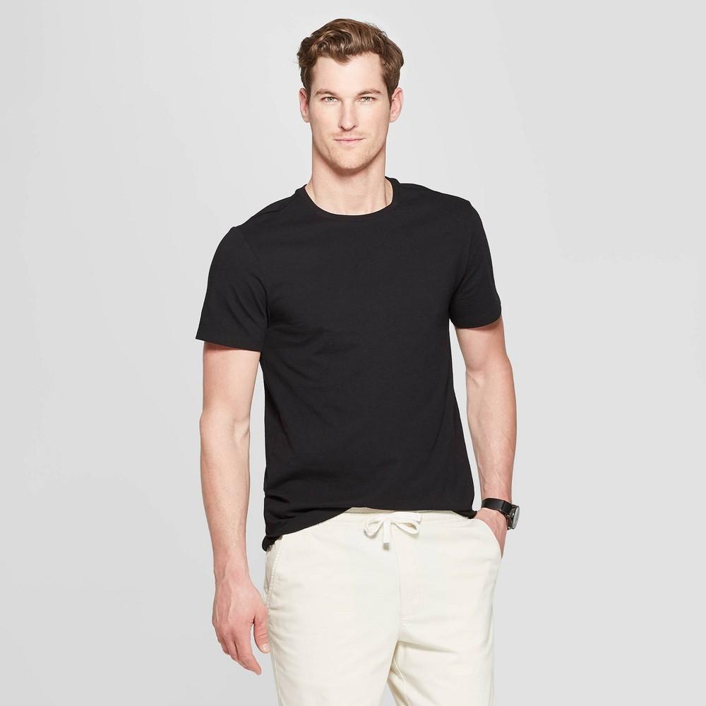 Men 39 S Standard Fit Short Sleeve Lyndale Crew Neck T Shirt Goodfellow 38 Co 8482 Black Xl