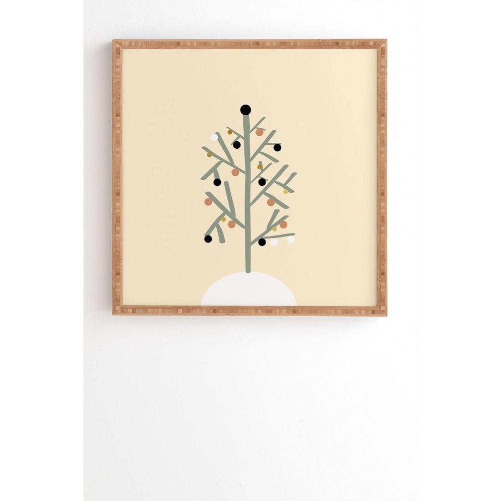 20 34 X 20 34 Viviana Gonzalez Light And Cozy Holiday Bamboo Framed Wall Art Deny Designs