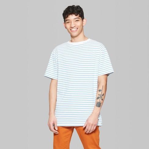 9d6843448 Men's Striped Regular Fit Short Sleeve Boxy T-Shirt - Original Use™  Brilliant Blue