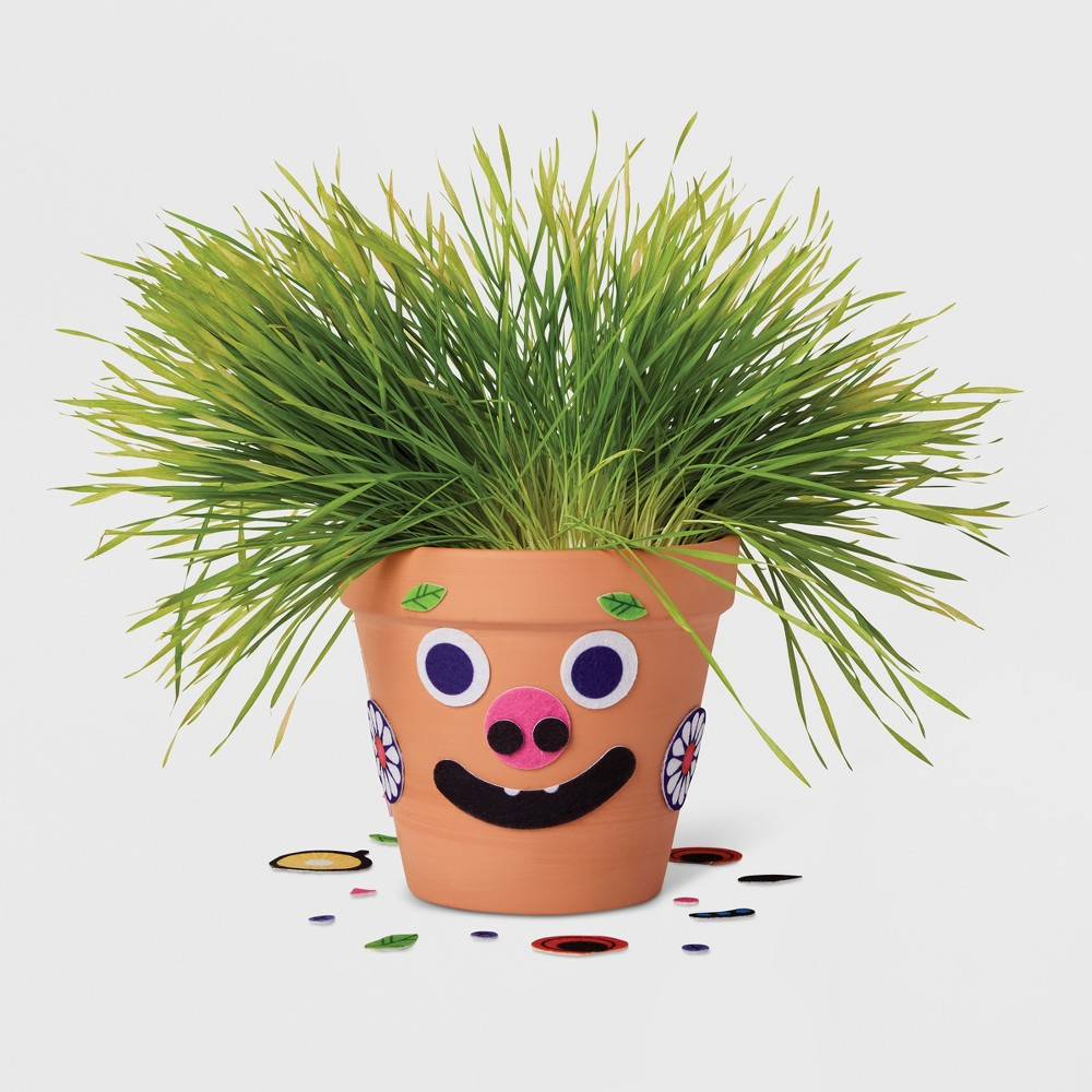 Image of Happy Felt Face Tabletop Planter Kit - Kid Made Modern, Multi-Colored