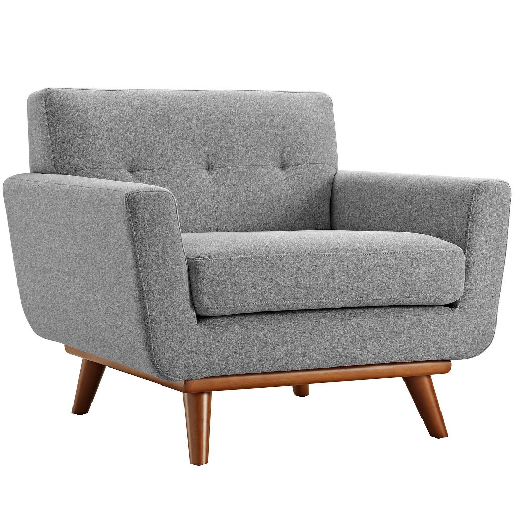 Engage Upholstered Armchair Expectation Gray - Modway