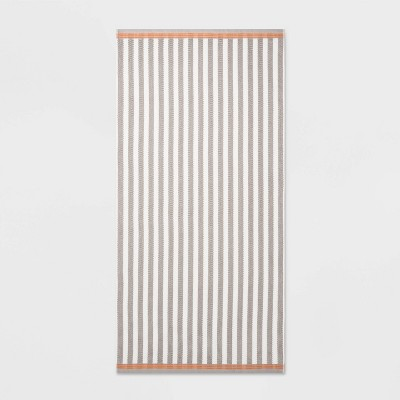 Stripe Beach Towel XL Gray - Sun Squad™