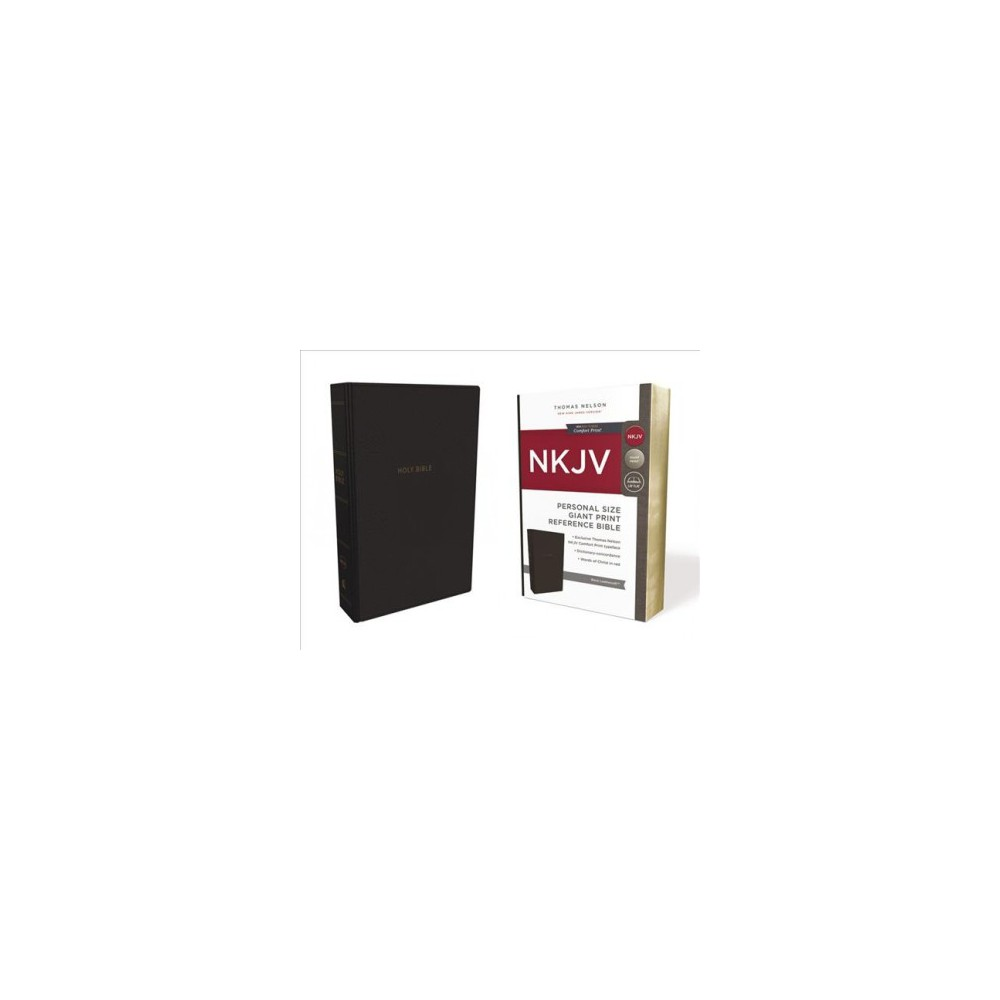 Holy Bible : New King James Version, Black, Leathersoft, Personal Size, Reference, Comfort Print, Red